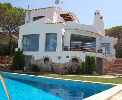 Maison avec vue sur mer à louer L'Escala piscine privée
